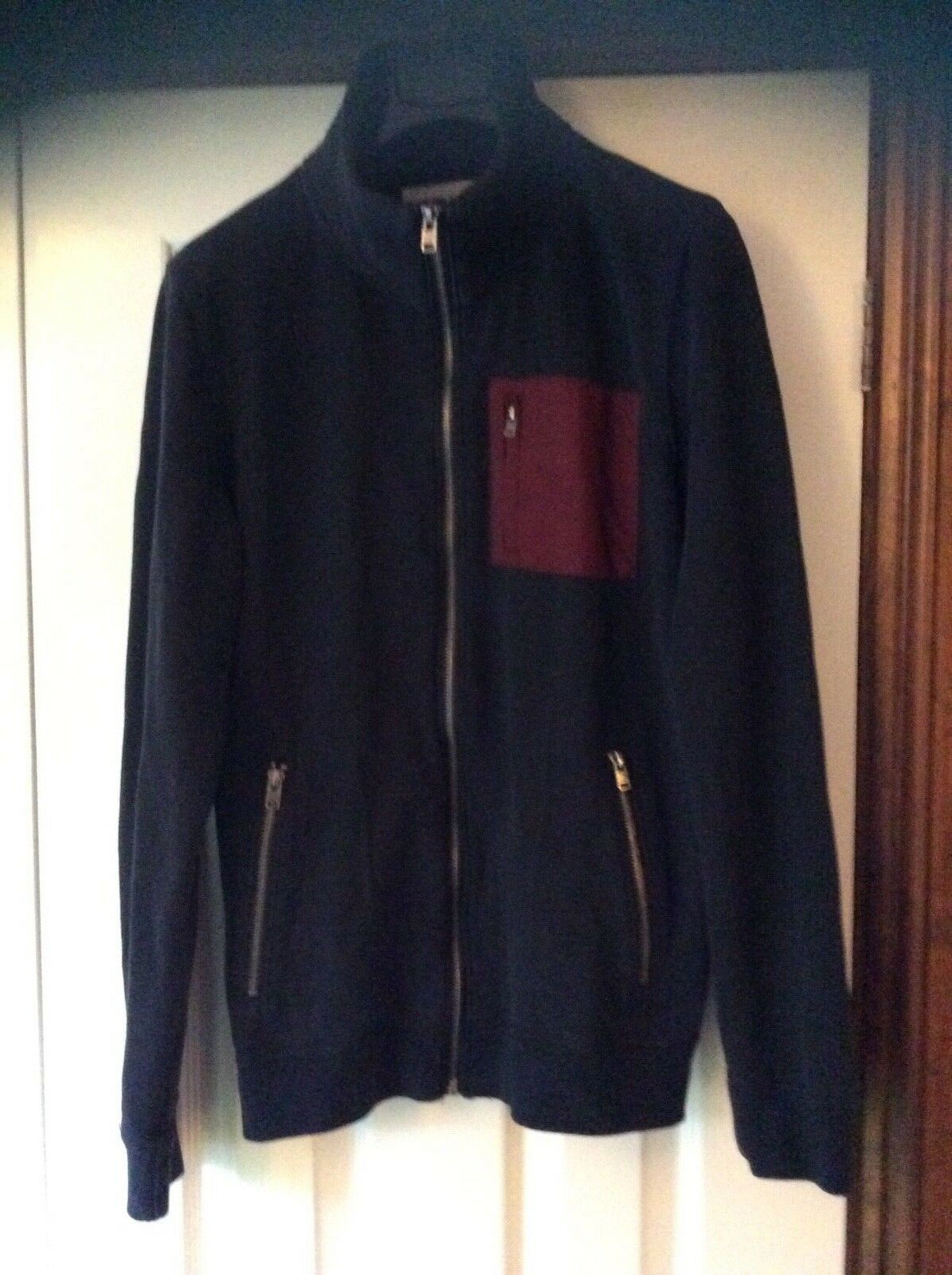 Mens Navy Hollister Jacket/Top Small