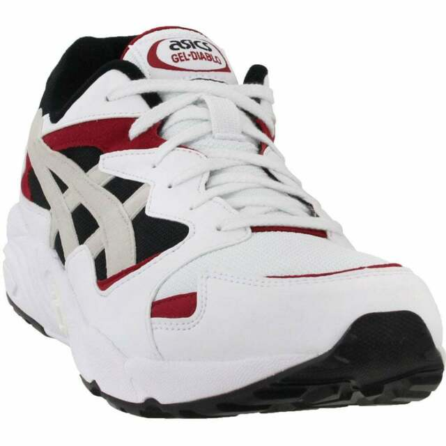 ASICS Mens Gel diablo White Running Shoes Size 10