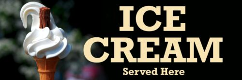 ICE CREAM PVC Printed Banner Outdoor//Indoor Catering Sign Eyelets