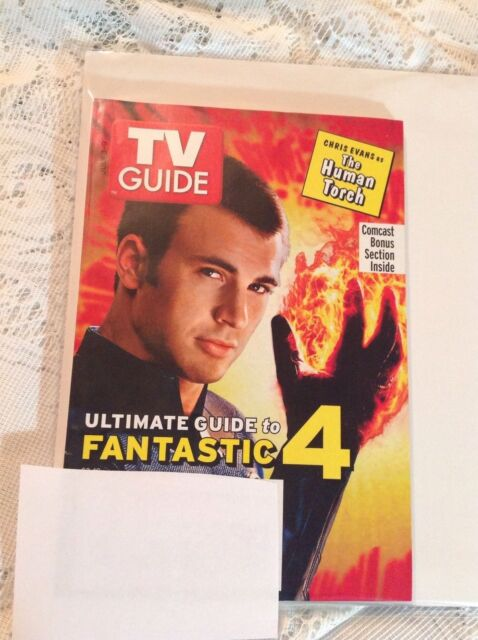 FANTASTIC 4 THE HUMAN TORCH CHRIS EVANS TV GUIDE MAGAZINE JULY 3-9, 2005