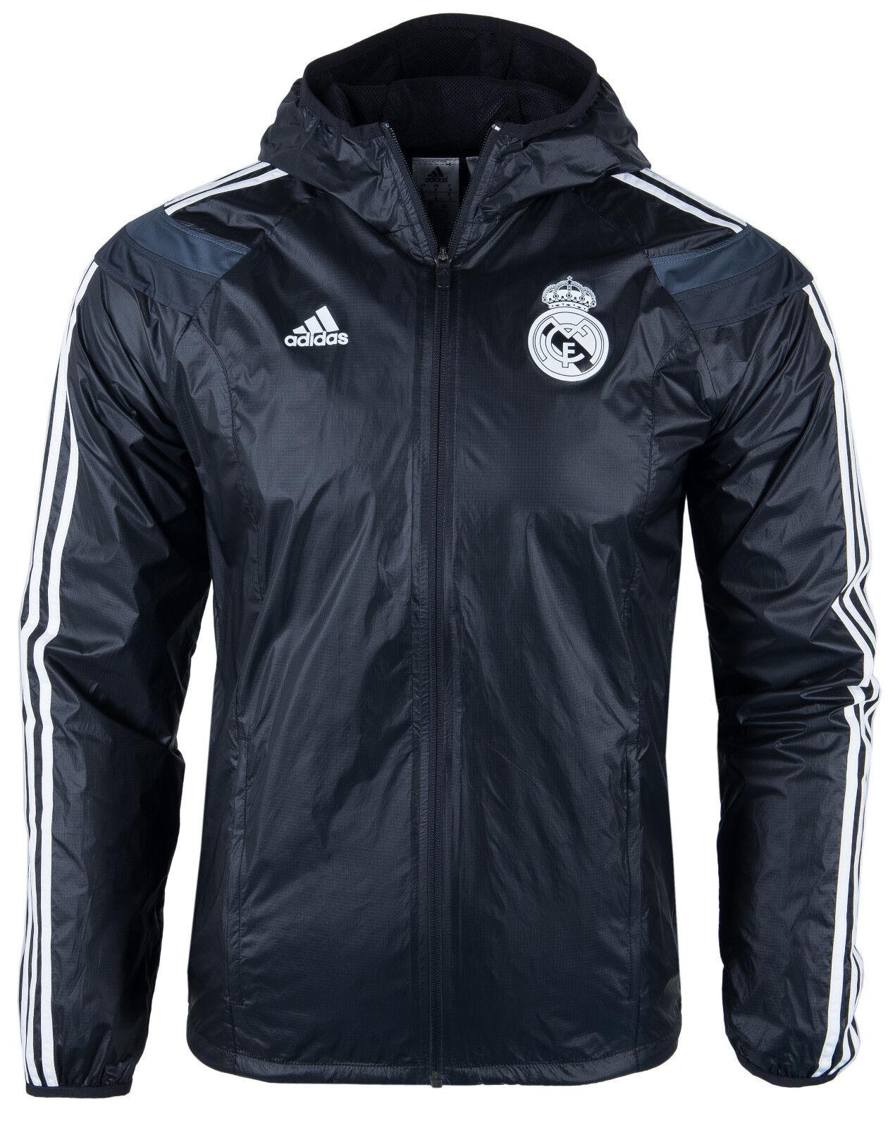 ADIDAS FC REAL MADRID OFFIZIELL LIZENZIERTE WINDBREAKER JACKET XL