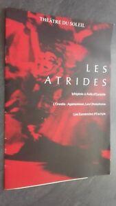 Programa Theatre de La Soleil Las Atridas Ifigenia - La Euménides Tbe