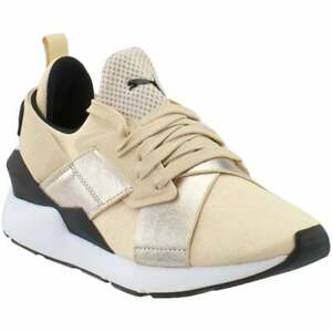puma muse metallic lace up womens sneakers shoes casual