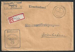 German Reich covers 1943 R-Fieldpostcover Marineartilleriezeugamt Amersfoort