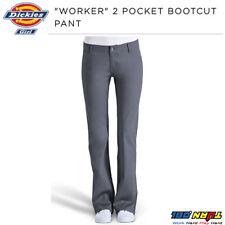 b4d14950755b0e DICKIES GIRLS SLIM FIT BOOTS CUT PANTS N882 WORKER WOMEN BLACK KHAKI NAVY