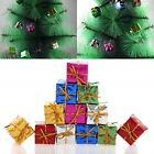 Mini 12 Christmas Gift Box Set Hanging Christmas Tree Ornament Party Decoration