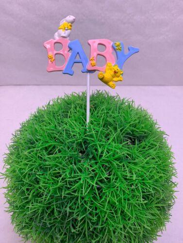 Teddy Blau//Rosa Unisex NEU 500731 Baby Schriftzug Kunsstoff m Stab Hase