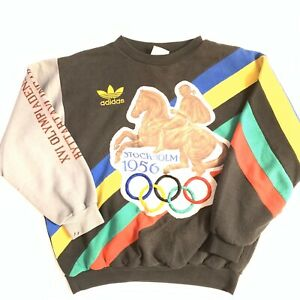 Rare Vintage Adidas Stockholm 1956helsinki Olympic Sweatshirt