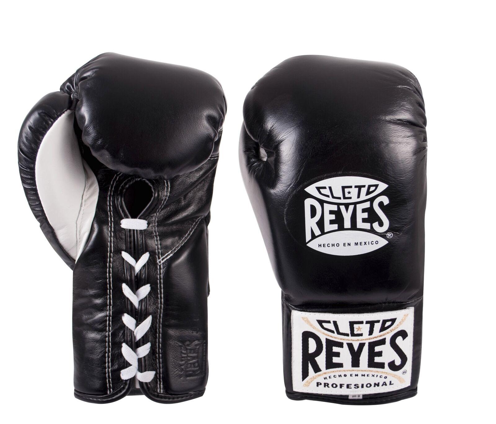 Cleto Reyes Ufficiale in pelle con Lacci Guantoni Box  Nero
