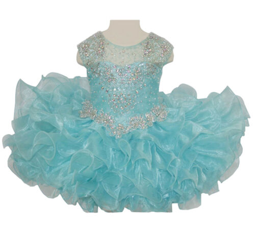 Newborn Baby Girls Jewel Short Cupcakes Toddler Pageant Tutu Party Dresses
