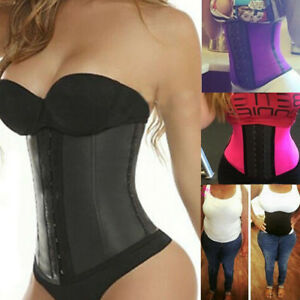 8820434c8bf Image is loading Sports-Latex-Rubber-Waist-Trainer-Cincher-Underbust-Corset-