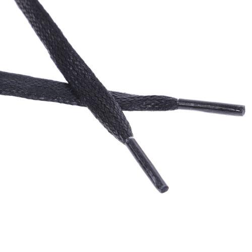 1Pair shoelaces flat round leather shoes shoe strings 80cm//100cm//120cm//150cmK7T