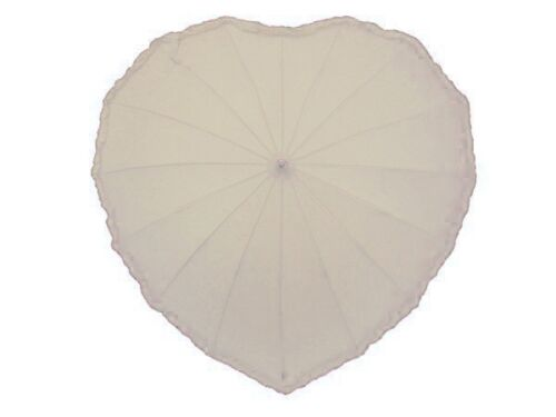 Weddings Photo Shoots Valentines Fathers ALL COLOURS Heart Shaped Umbrellas