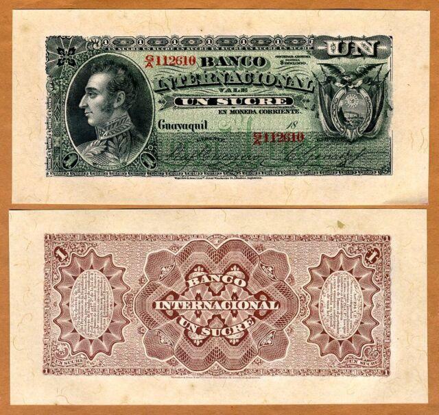 Ecuador, 1 Sucre, 1886-94, P-S172, aUNC