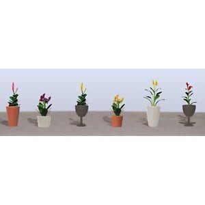 "JTT Scenery Assorted Potted Flower Plants 4, HO-Scale 1-3/8"" Long, 6/pk 95571"