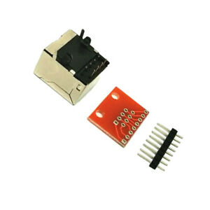 RJ45-Connecteur-8-Broches-Carte-De-Circuit-Imprime-et-Breakout-board-kit-d-039-adaptateur-pour