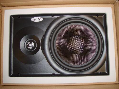 "In-wall Full Range Loudspeaker! Current Audio WS804 8/"" CARBON FIBER cone 2-way"