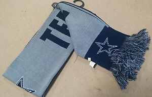 Dallas Cowboys Scarf Knit Winter Neck New Slogan America's Team | eBay