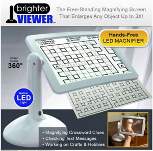 LED-Magnifier-Heller-Lesen-Viewer-Lupe-Large-Screen-Magnifier-Mit-Licht-In-Weiss