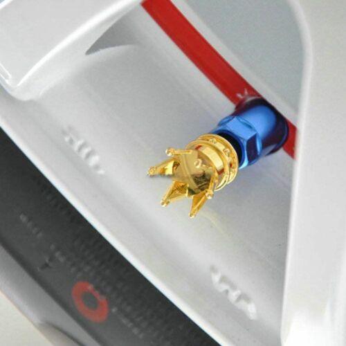 4x Goldkrone Autoreifen Luftschaft Ventilkappen Rad luftdicht