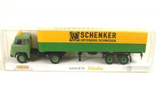 Scania LB 76 Flatbed Tarpaulin Semitrailer Schenker Göteborg Sweden