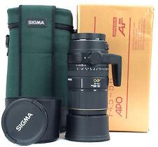 CANON EOS 135-400mm Sigma APO 4.5-5.6 + Hood + Case  - Boxed -