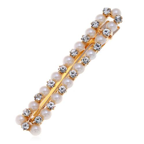 Fashion Woemn Pearl Hair Clip Hairband Snap Barrettes Hairpin Hair Accessories