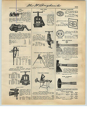 1931 PAPER AD Plumb Maydole Buckeye Bricklayers Tinners/' Hammer BBB Farriers