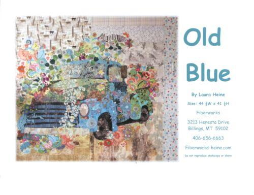 Old Blue Vintage Truck Collage