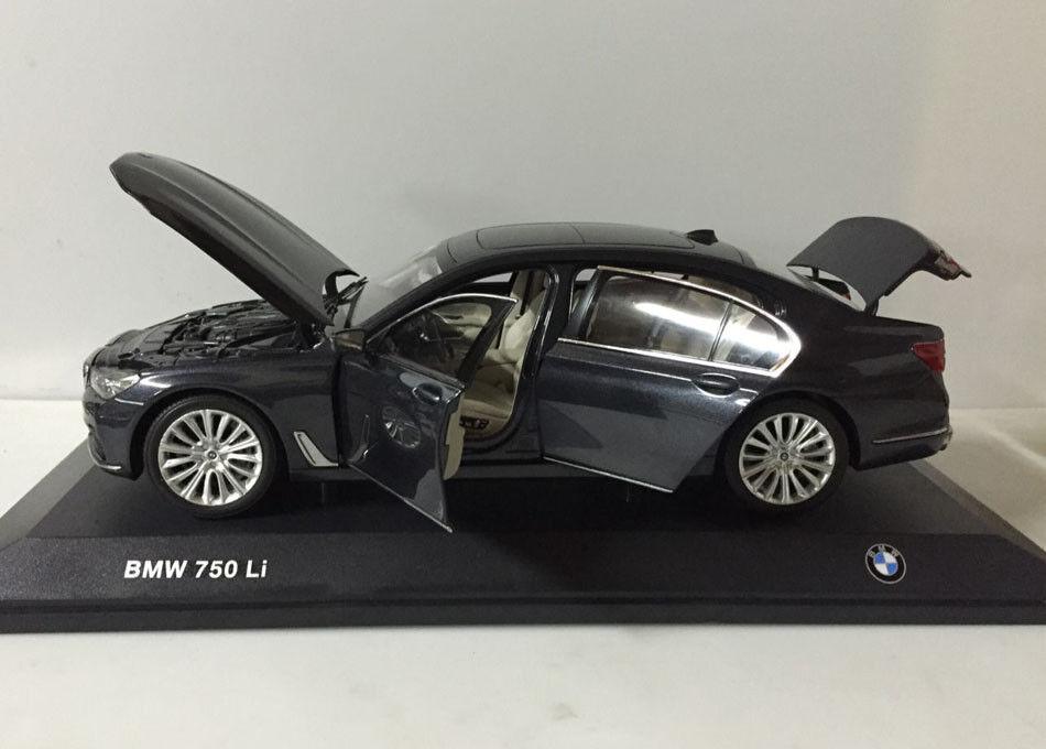 1:18 I-Scale BMW 750LI long version 2015 darkgrigio-metallic