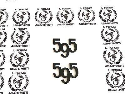 ABARTH 595 COMPETIZIONE SET LOGHI COMPLETO FREGI BADGE LATERALI e POSTERIORI