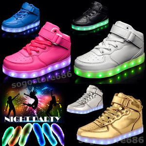 Boys Girls LED Light up Shoes Luminous