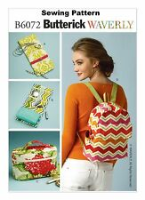 Butterick B6072 Waverly Pattern Jewelry Case, Cosmetic Bag, Backpack All Sizes