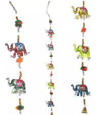 Elefante Indiano Da Appendere Mobile LUCKY Elefanti wallhanging Fatto a Mano Ciondolo PUPAZZO