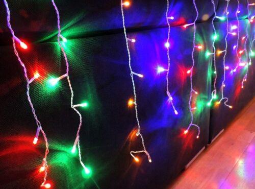 300 LED ca.7,5m Eiszapfen Lichterkette Eisregen Weihnachtsbeleuchtung Multicolor