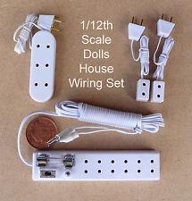 1:12 Kit de cableado de luz 6 socket, solo, triple Tiras Casa de muñecas en miniatura de 12v