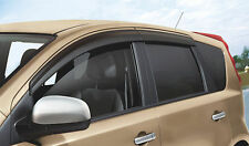 Genuine Nissan Note Genuine Window Wind/RainDeflectors Front+Rear Set H08009U060