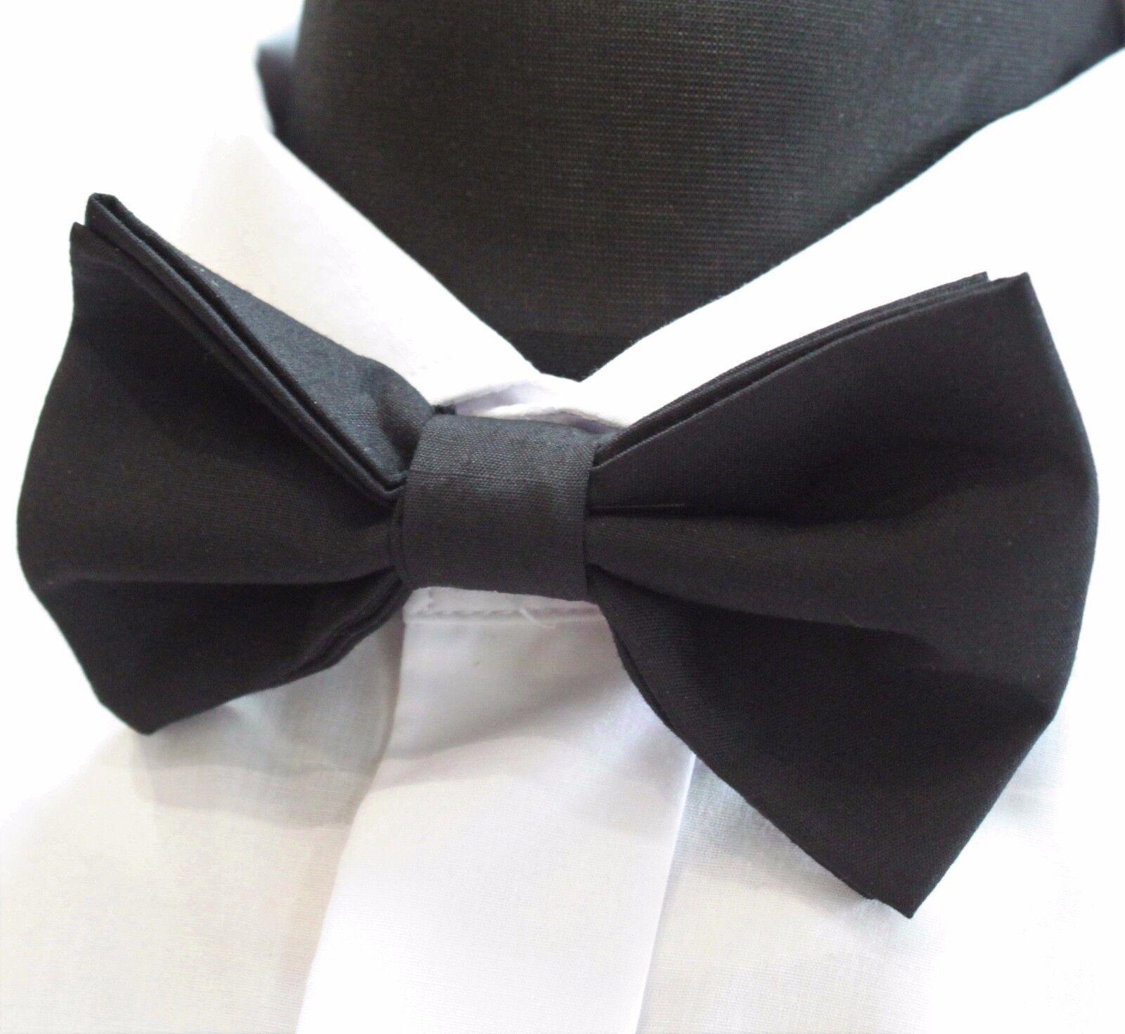 Bow Tie. UK Made. Classic Black.Premium Quality. Pre-Tied.