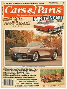 Cars Parts Magazine October 1987 Featuring Ford Chevy Plymouth And Oldsmobile Ebay