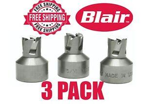 "Blair 11208-3 Rotabroach Hole Cutter 8mm Diameter 3 Pack 1//4/"" x 24 Thread"