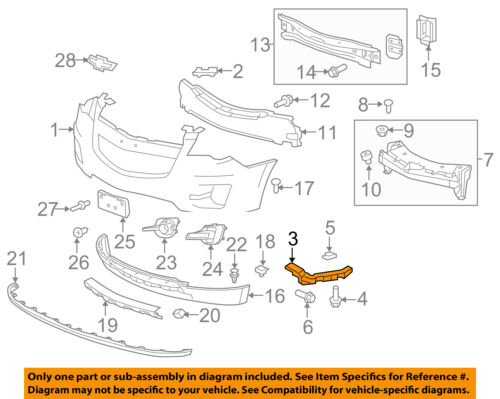 Chevrolet GM OEM Equinox Front Bumper Grille Grill-Side Retainer Right 84059893
