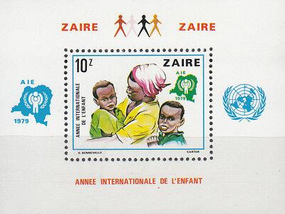 Kongo (zaire) Nr. Block 29** Internationales Jahr Des Kindes Farben Sind AuffäLlig