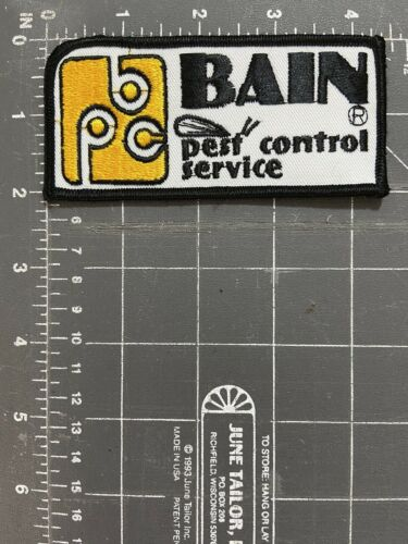 Vintage Bain Pest Control Service Patch BPC Exterminator Lowell Massachusetts MA