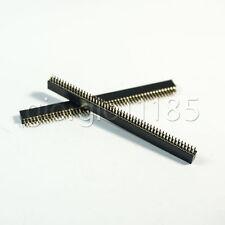 Us Stock 10pcs 50 Pin 50p 127mm Female Double Row Pin Header Strip