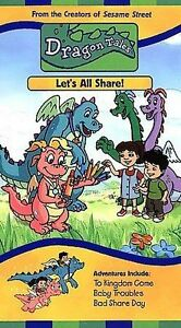 Dragon-Tales-Let-039-s-All-Share-VHS-VHS-Tape