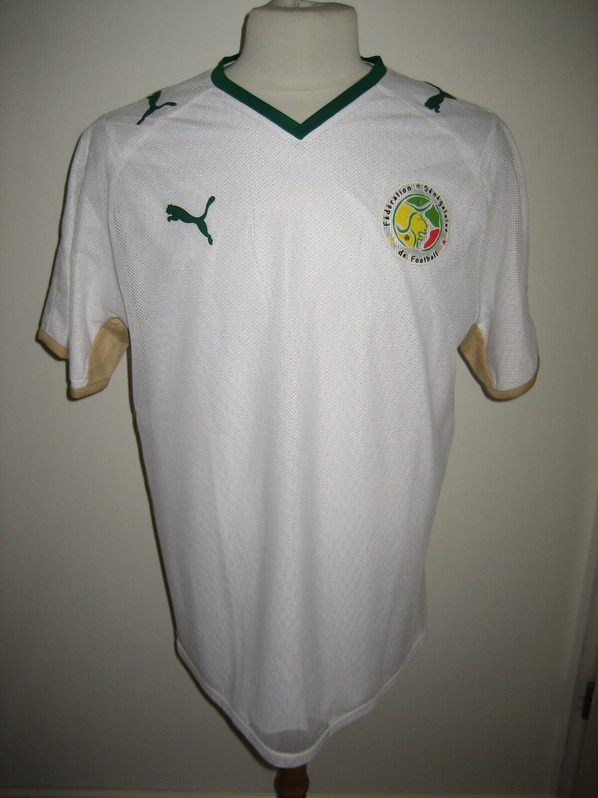 Senegal PLAYER ISSUE home football football football shirt soccer jersey maillot trikot size L 505108