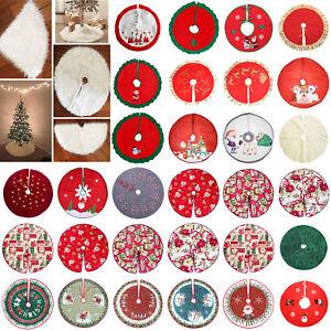 90cm-Albero-di-Natale-Gonna-Lunga-Neve-Peluche-Base-Tappetino-Cover-Natale-Festa-Decor
