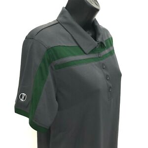 Holloway-Golf-Polo-Shirt-Womens-Size-M-Medium-Gray-Green-Short-Sleeve-Dry-Fit