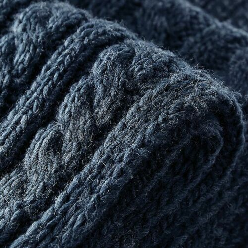 B499 Beechfield Cable Knit Melange Scarf Heavy Wrap Around Hand Knit Unisex