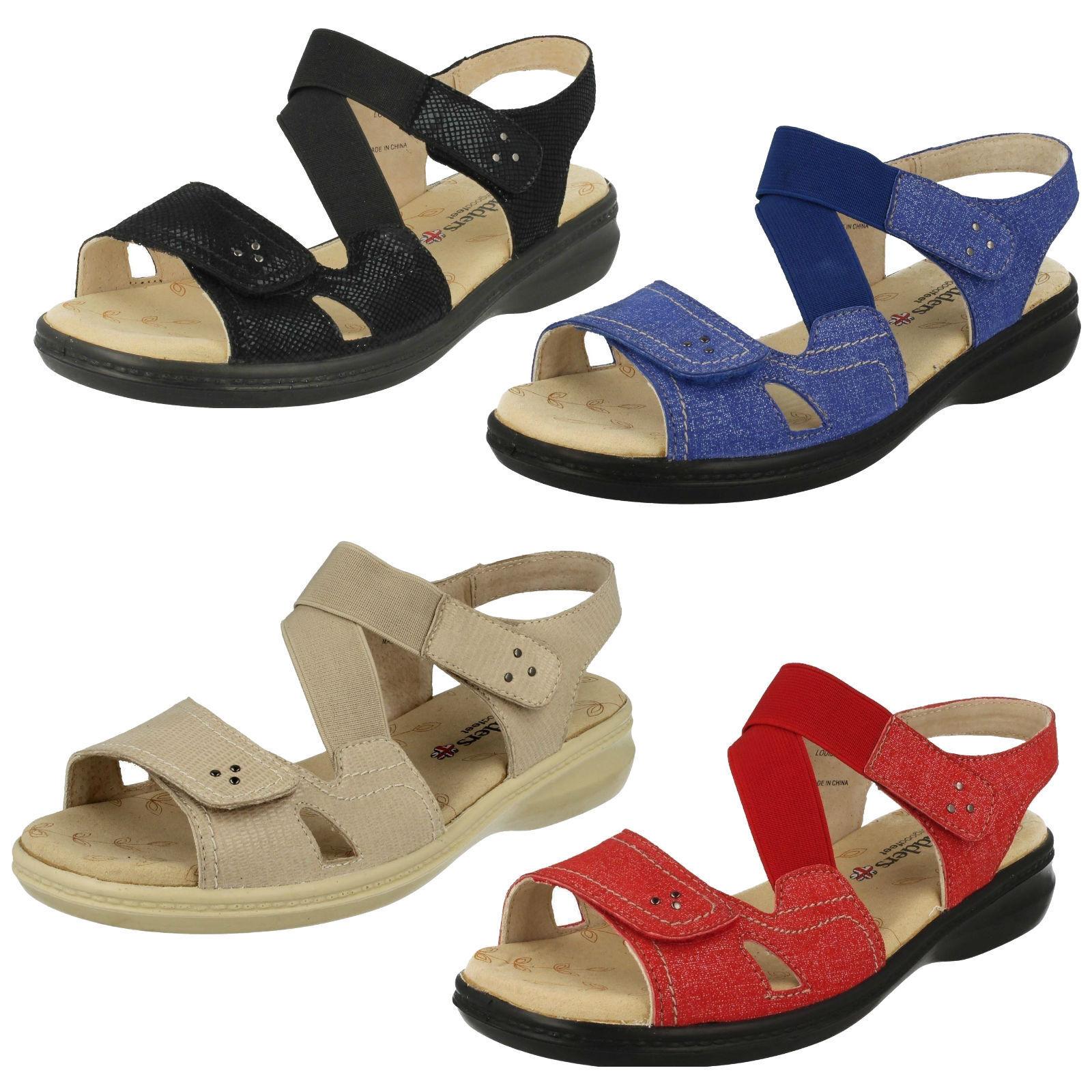 PADDERS LADIES LOUISE 729 OPEN TOE RIPTAPE STRAP WIDE FIT SANDALS Schuhe